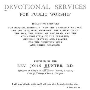 Devotional Service for Public Worship