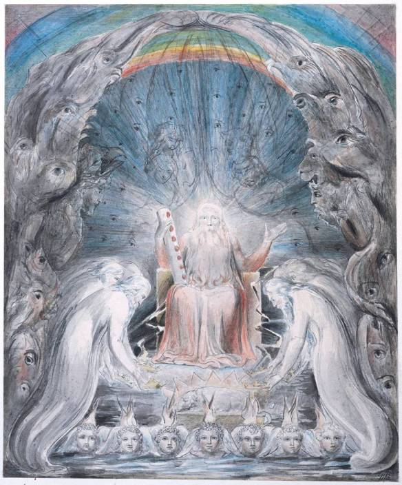 The Four and Twenty Elders Casting their Crowns before the Divine Throne circa 1803-5 by William Blake 1757-1827